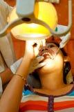 Paziente del dentista Immagine Stock