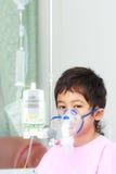 Paziente del ragazzo in ospedale Fotografia Stock Libera da Diritti