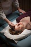 Paziente di agopuntura Immagine Stock