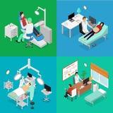 Paziente ed il dottore Appointment Isometric View Vettore Fotografia Stock Libera da Diritti