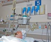 Paziente maschio in ospedale fotografia stock