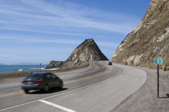 Pazifikküste-Datenbahn Mugu Felsen Lizenzfreies Stockbild
