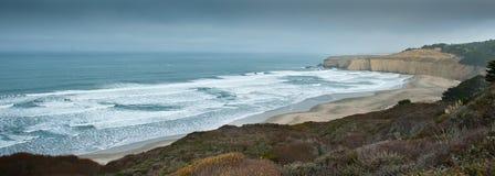 Pazifikküste-Datenbahnansicht Stockfoto
