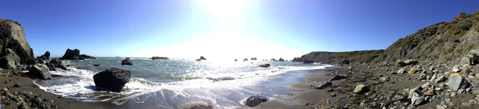 Pazifikküste, Sonoma County, Kalifornien Lizenzfreies Stockfoto