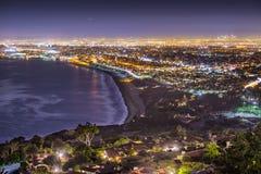 Pazifikküste von Los Angeles stockbild