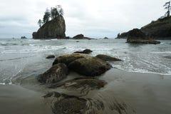 Pazifikküstestrand stockbilder