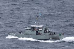 Pazifisch-klassepatrouillenboot HMPNGS Rabual der Papua-Neu-Guinea Verteidigungs-Kraft stockfoto