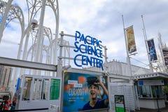 Pazifische Wissenschafts-Mitte in Seattle Lizenzfreie Stockfotos