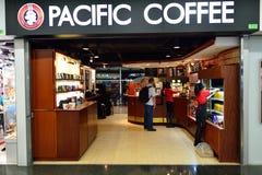 Pazifischer Kaffeecaféinnenraum Stockfotos
