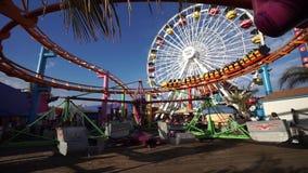 Pazifischer ParkVergnügungspark auf Santa Monica Pier in Santa Monica, Kalifornien stock footage