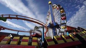 Pazifischer ParkVergnügungspark auf Santa Monica Pier in Santa Monica, Kalifornien stock video