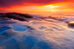 Pazifischer Sonnenuntergang Lizenzfreies Stockbild