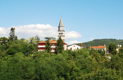Pazin. The historic central Istrian medieval hill town of Pazin in Croatia Royalty Free Stock Photos