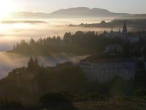Pazin, lever de soleil Photographie stock libre de droits
