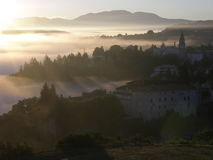 Pazin, sunrise royalty free stock photography