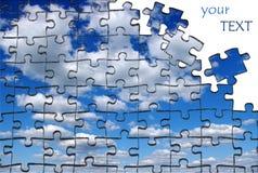 Pazles del cielo Imagen de archivo libre de regalías