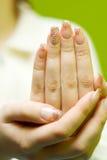 paznokcie zdjęcie royalty free