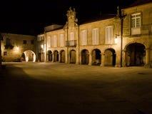 Pazo de Mugartegui. Mugartegui Palace at night, in Pontevedra city, Galicia, Spain Stock Photography