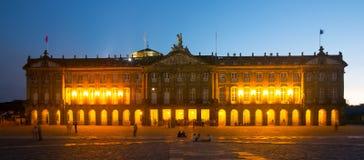 Pazo de Raxoi palace in  in  Santiago de Compostela Stock Photography