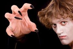 pazura Halloween ręki mężczyzna czarownik Zdjęcie Royalty Free