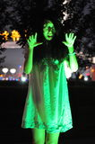 pazzesco Fantasma femminile Fotografia Stock