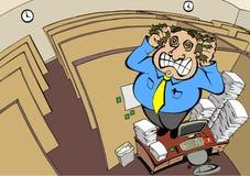 Pazzia del cubicolo Fotografia Stock
