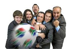 Pazzia di gioco del calcio Immagini Stock Libere da Diritti