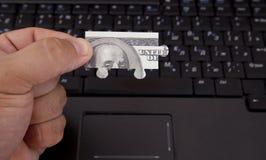 Pazzle 100 dollars Images libres de droits