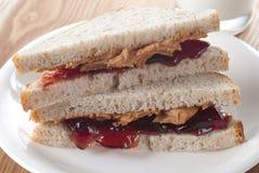 PB et sandwich à J images stock