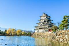 PB van het kasteelmatsumoto van Matsumoto in de winter op blauwe hemel backgroun Royalty-vrije Stock Afbeelding