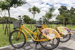 Pbike, un sistema de alquiler de la bici pública en Pingtung Foto de archivo libre de regalías