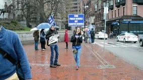 PBS istruisce i membri che si incontrano a Boston, U.S.A., archivi video