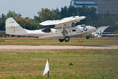 PBY Catalina seaplane lands Stock Photos