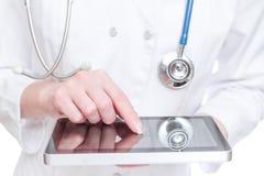 PC ταμπλετών εκμετάλλευσης γιατρών Στοκ Εικόνες