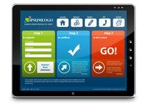 PC ταμπλετών με το πρότυπο Webdesign απεικόνιση αποθεμάτων