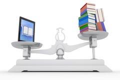 PC ταμπλετών σε πολλά βιβλία ελεύθερη απεικόνιση δικαιώματος