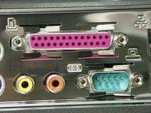 PC-Anschlusskanäle Stockbild