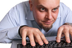 PC-Benutzer aus Kopf heraus Lizenzfreie Stockfotografie