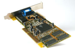 PC board isolated Royalty Free Stock Photography