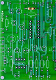 PC Board layout with one resistor in it Stock Photography
