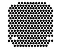 PC case ventilation grille. Metal PC case ventilation grille pattern of pentagon perforation stock images