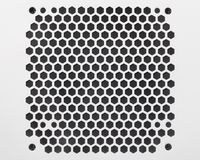 PC case ventilation grille. Metal PC case ventilation grille texture of pentagon perforation royalty free stock photography