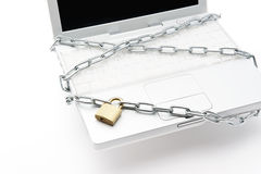 PC and chain Royalty Free Stock Image
