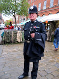 PC 49. CHESTERFIELD, DERBYSHIRE, UK. OCTOBER 29, 2015.  A gentleman in a policeman's 1950s dress unifrom of PC 49 at Chesterfield in Derbyshire, UK Royalty Free Stock Photography