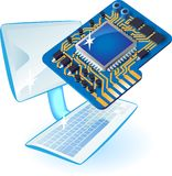 PC with chip set Royalty Free Stock Photo