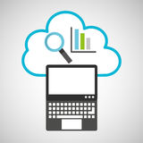 Pc cloud financial graphics digital web Stock Photography