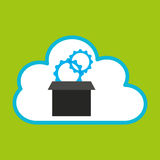 Pc cloud gear digital web. Vector illustration eps 10 Stock Photos
