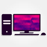 PC with colorful triangles Stock Photos