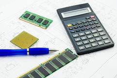 PC components Royalty Free Stock Photos