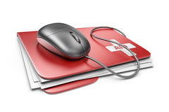PC computer first aid concept. 3D Icon  Royalty Free Stock Photo